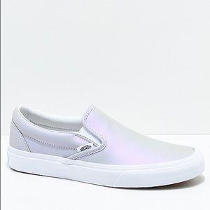 Vans Slip On  Iridescent Sneakers Youth Kids 3